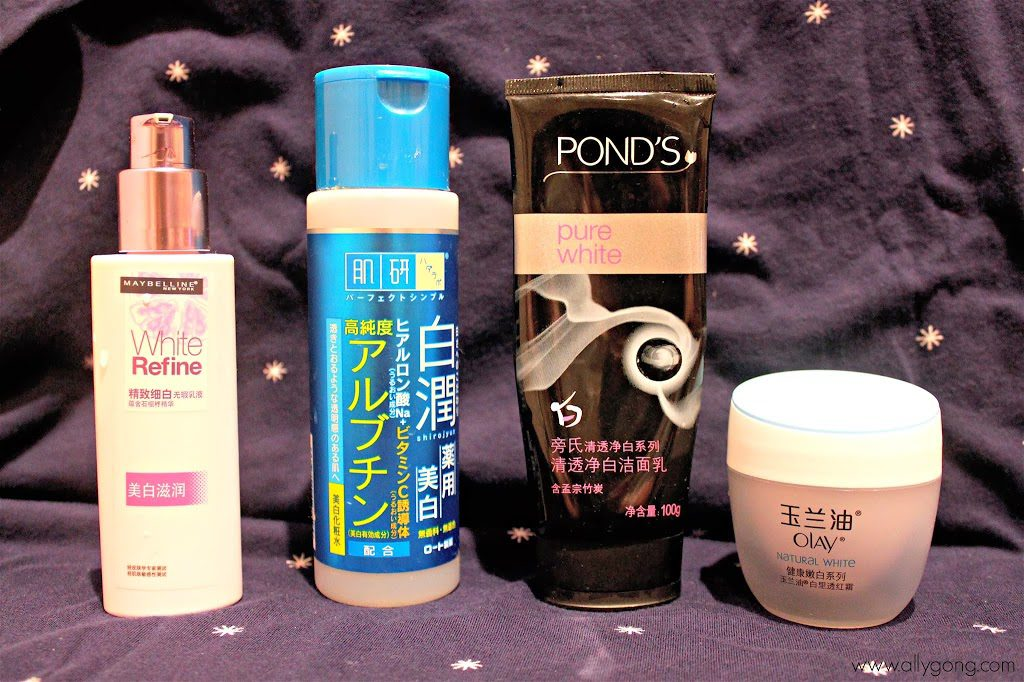 My Skin Whitening Products!