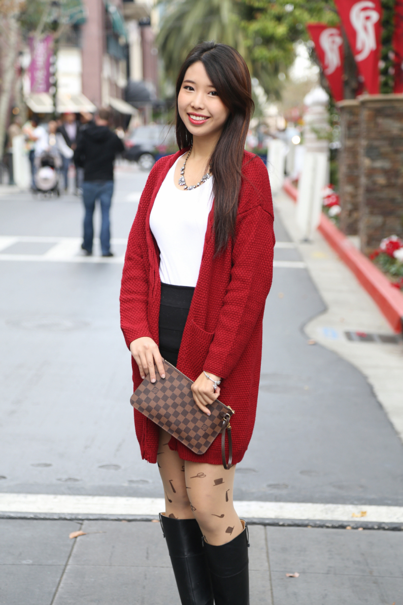 valley fair, santana row, bay area, fashion blogger, palo alto, westfield mall, ally gong, cute, asian, girl, pretty, makeup, outfit, hair, inspiration, holiday, shopping, festive, red, basics, louis vuitton, accessories, adorable, tights, how-to, style, tips, advice, boots, sleek, chic, classy, pandora, wraphilosophy, anainspirations, choies, angelic spark, handmade, initial, bracelet, birthstone, bow, mustache,