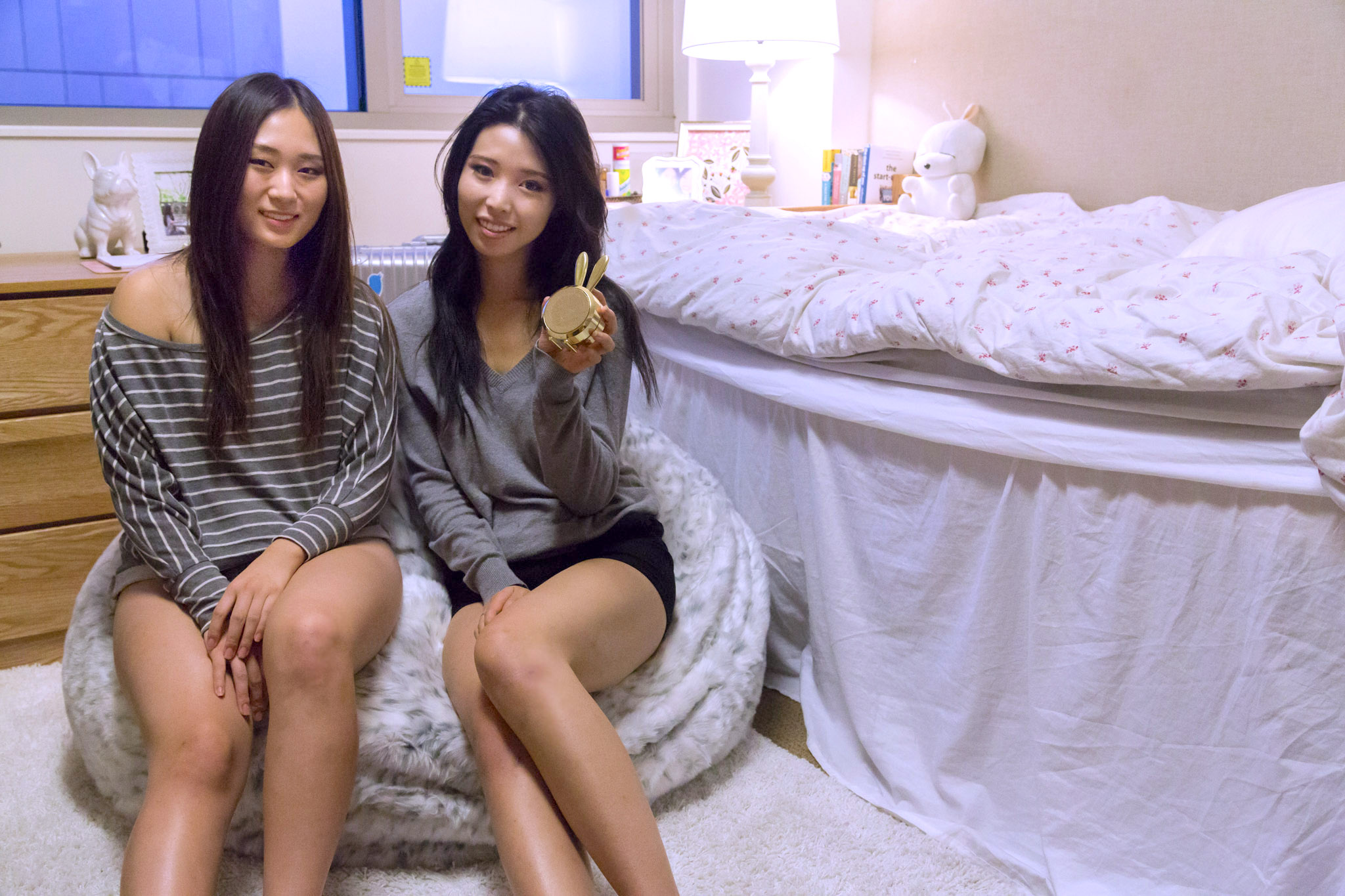 ally gong dorm decoration college ucla dorm room decoration ideas bean bag cute girl asian fashion lifestyle blogger pottery barn teen